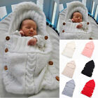 US Ship Infant Newborn Baby Knit Blanket Swaddle Wrap Sleeping Bag Photograpgy