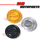 CNC Keyless Fuel Cap For Kawasaki ZX-14R 06-16 07 08 09 10 11 12 13 14