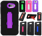 Samsung Galaxy J3 Luna Pro IMPACT Hard Rubber Case Cover Kickstand +Screen Guard