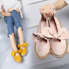 Womens Ladies Slip On Espadrilles Flats Bow Sneakers Pumps Trainers Shoes Size K