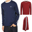 Fred Perry Men's L/S T-Shirt Mens  Long Sleeved Authentic Taped Ringer Tee Shirt