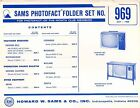 Sams Photofact Folder Set 969 - TV Radio Phonograph