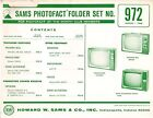 Sams Photofact Folder Set 972 - TV Radio Phonograph