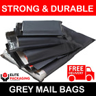 12x16 Grey Mailing Bags Postal Postage Post Mail Strong Poly SelfSeal Cheap 55mu