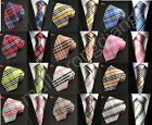 Classic Checks Mens JACQUARD WOVEN Silk Tie Necktie Wedding Party best man gift