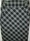 Express Pre-owned Career suit skirt size 6 Black white and Grey Plaid