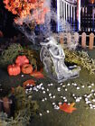 Halloween TOMBSTONE ~ Weeping Woman on ARCH Headstone ~ Dept 56 Lemax GRAVE
