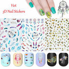 Unicorn 3D Nail Stickers Colorful Rainbow Star Heart Adhesive Nail Art Decals