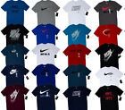 Men's NIKE T SHIRT Size S-3XL Graphic Tee Just Do It Logo Crew Neck Athletic Fit image