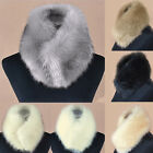 Women's Ladies Faux Fur Scarf Collar Elegant Series Neck Warmer Winter Bow Tie