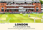 Vintage Style Railway Poster London Lords Cricket Ground A4/A3/A2 Print