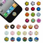Color Design Soft Plastic Round Home Button Stickers For iPhone 5 3GS 4 4S iPad2