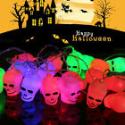 3.5M 20 LED Flash Skull String Lights Halloween Party Decoration Battery/Plug-in