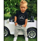 Little Brother Baby Boy Spielanzug Bodysuit Big Brother T-Shirt Tops Outfit