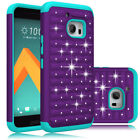 For HTC 10 / HTC One M10 Case Bling Shockproof Armor Hybrid Rugged Phone Cover