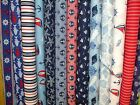 DAYS BY THE SEA THE CRAFT COTTON CO NAUTICAL SAILING RANGE 100% COTTON FABRIC