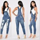 Women Fashion Denim Jeans BIB Pants Overalls Straps Jumpsuit Rompers Trousers GW