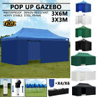 Pop Up Gazebo Tent Market Stall Commercial Waterproof Marquee 3x3m 3x6m OGL