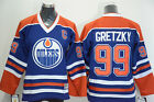 Edmonton Oilers 99 Wayne Gretzky Blue CCM Throwback Jersey All Sizes