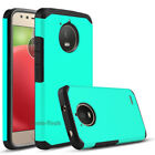 For Motorola Moto E4 2017 Case Rugged Armor Hybrid Rubber Hard Phone Back Cover