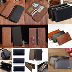 New Various PU Leather Bifold Long Card Holder Wallet Checkbook Organizer Purse