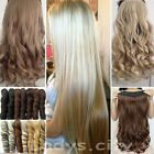 """100% Thick Clip In Hair Extensions Long 3/4 Full Head Hair Extentions 17-30"""" f3w"""