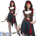 Womens Pirate Fancy Dress Costume Adult Bucaneer Outfit Wench Shipmate