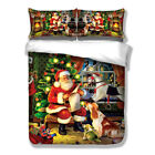 X-mas Duvet Doona Quilt Cover Set King Single Queen size Santa Claus Animal New