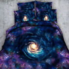 Starry Sky Quilt/Doona/Duvet Cover Set Super King Single Queen Size Galaxy Cover