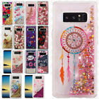 For Samsung Galaxy Note 8 Liquid Glitter Quicksand Hard Case Phone Cover