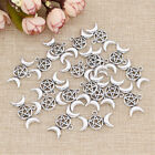 star goddess - 1/20 Pcs Triple Moon Goddess Pendant for Necklace Moon Star Silver Charms Gifts