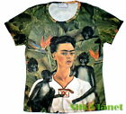 Frida Mexican Self Portrait Monkey Surreal Arte Camiseta T SHIRT FINE ART PRINT