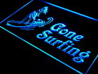 16x12 s090 b Gone surfing Surf Lady Wave Neon Sign