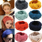 Women Turban Crochet Twist Knitted Headwrap Headband Winter Warmer HairBand New
