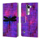 OFFICIAL WONDROUSCRE8TIONS GALAXY WATERCOLOUR LEATHER BOOK CASE FOR LG PHONES 2