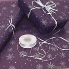 Christmas Purple & Silver Snowflakes Patterned Kraft Wrapping Paper 5 /10 metres
