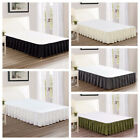 "Chezmoi Collection Solid Chic Ruffled 15"" Drop Bed Skirt Dust Ruffle image"