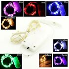 Waterproof 2m 20LEDs Sliver Wire String Fairy Light for Xmas with CR2032 Battery