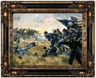 Troiani Attack of the 1st Minnesota at Gettysburg Wood Framed Canvas Repro 12x16