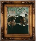 Degas Orchestra Musicians 1872 Wood Framed Canvas Print Repro 8x10