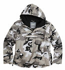 Hooded Surplus Urban Camouflage Windbreaker Jacket Water-Resistant Fleece Lined