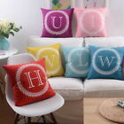"""18"""" Monogrammed 26 Initial letter Pillow Case Christmas Xmas Cushion Cover"""