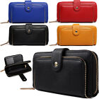 Large Zip Around Clip Top Women Purse Faux Leather ID Card Organiser Coin Wallet