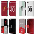 PERSONALISED LIVERPOOL FC LFC 2017/18 LEATHER BOOK CASE FOR APPLE iPOD TOUCH MP3