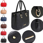 Large Faux Leather Women Shoulder Bags Designer Tote Satchel Handbags Cross Body
