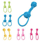 Dumbbell Cotton Braided Rope Ball Pet Chew Toys Puppy Clean Teeth Training SUP