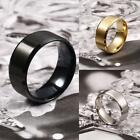 High Quality Stainless Steel Ring Band Titanium Silver Black Gold Men Wedding UK