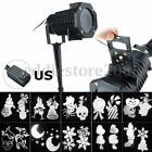 10 Patterns LED Projector Light Christmas Party Garden Outdoor Landscape Lamp
