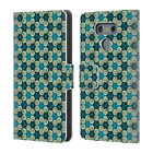 OFFICIAL WONDROUSCRE8TIONS GEOMETRIC FLORALS LEATHER BOOK CASE FOR LG PHONES 1
