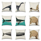 Cushion Cover Home Sofa Office Room Decoration Throw Linen Car Pillow Case White